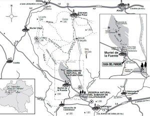 Fuentona-Sabinar-de-Calatañazor-Sierra-Cabrejas-Mapa